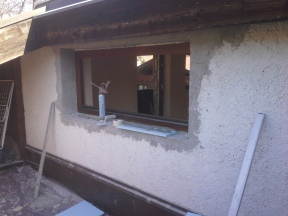 vorher... Fenster einputzen